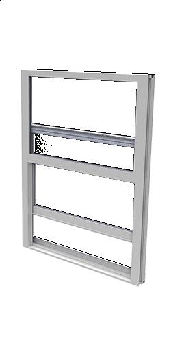 SINGLE HUNG IMPACT WINDOW