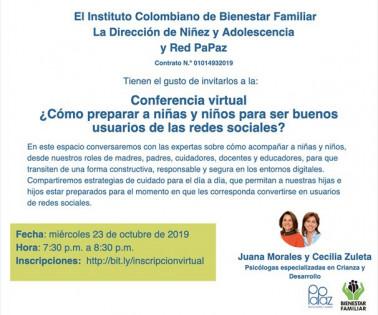 Conferencia Red PaPaz 23 de octubre