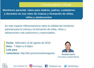 Conferencia Red PaPaz Agosto 14 de 2019